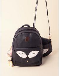 Рюкзак у комплекті із сумкою на плече з принтом очей та ведмедиком | 237647-02-XX