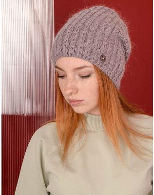 Шапка ковпак з візерунком плетеної коси | 238315-35-XX