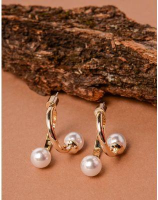 Сережки подвійні з перлинами   237618-08-XX