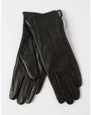 Перчатки из натуральной кожи с плетением   227822-02-07