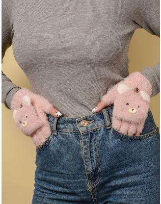 Рукавички мітенки з ведмедиками | 238103-14-XX