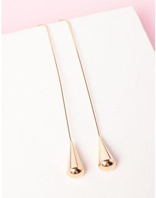 Сережки довгі з крапельками | 234641-04-XX