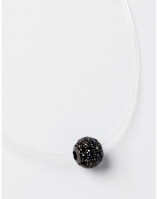 Підвіска з волосіні з кулоном у вигляді кульки з камінцями | 229098-10-XX