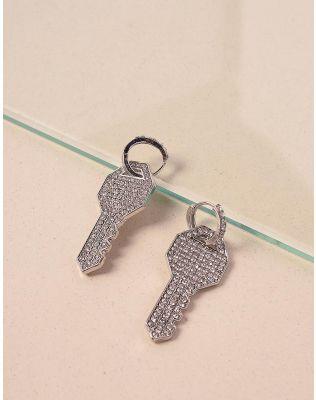 Сережки у вигляді ключів зі стразами   238683-06-XX