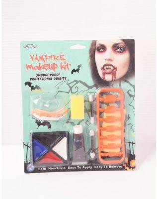 Набір для гриму на хелоуін зі штучними зубами та кров'ю | 238925-21-XX