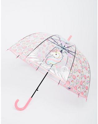 Зонтик с принтом единорога и тростью полуавтоматом | 229700-14-XX