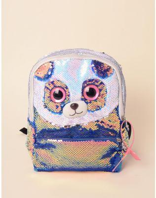 Рюкзак молодіжний голографічний у вигляді панди з паєток   238564-21-XX