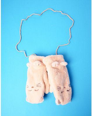 Рукавиці у вигляді кицьки на мотузці | 235302-22-XX