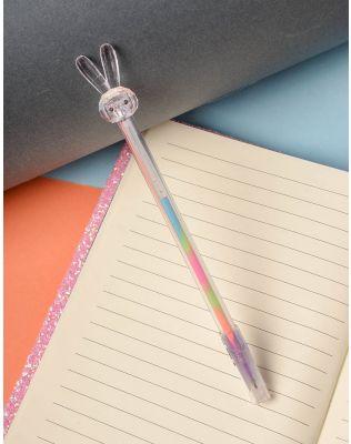 Ручка з кольоровою пастою та зайчиком на кінці   237823-35-XX