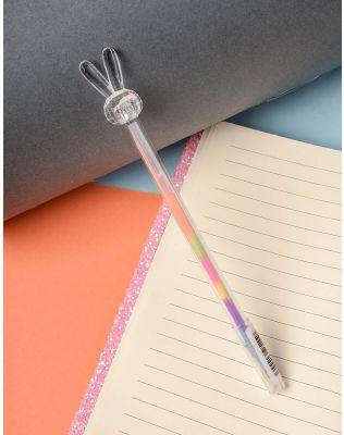 Ручка з кольоровою пастою та зайчиком на кінці   237823-31-XX