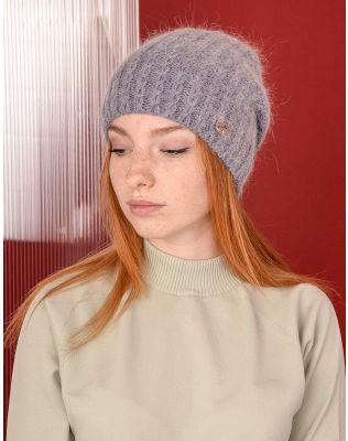 Шапка ковпак з візерунком плетеної коси | 238315-96-XX