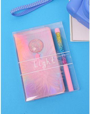 Набір з ручки та блокноту у клітинку з мушлею та пером | 234675-14-XX