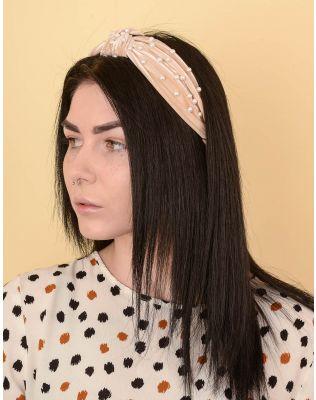 Обідок для волосся широкий з перлинами | 238670-40-XX