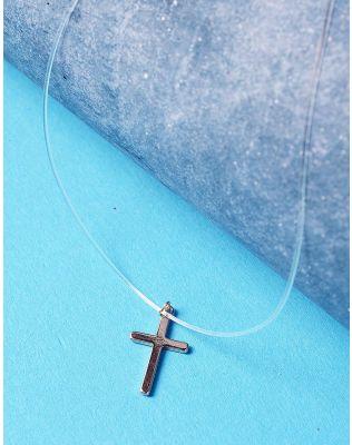 Підвіска з волосіні з хрестиком | 225906-04-XX