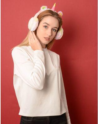 Навушники хутряні у вигляді єдинорога | 236376-21-XX