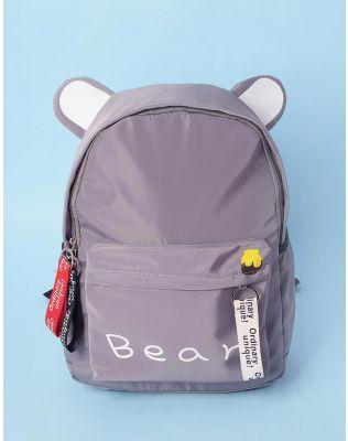 Рюкзак молодіжний з вушками та написом   233560-11-XX