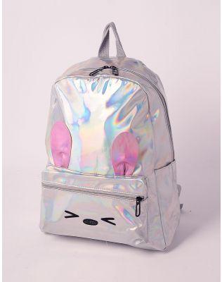 Рюкзак голографічний з вушками | 238754-05-XX