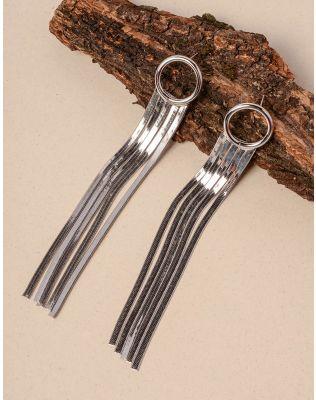 Сережки довгі зі стрічками | 234642-05-XX