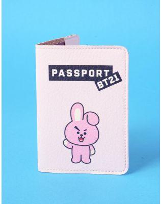 Обкладинка на паспорт з принтом bts bt21 COOKY ЧОНГУК | 237000-14-XX