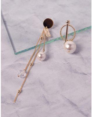 Сережки з ланцюжками та перлинами   237470-08-XX