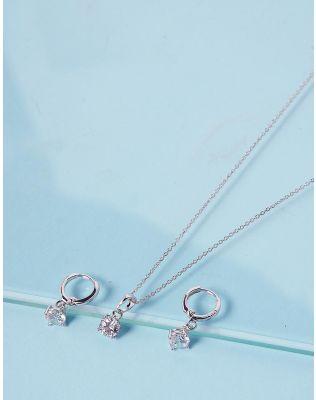 Комплект із підвіски та сережок з кристалами | 238818-06-XX