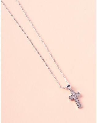 Підвіска з хрестиком у камінцях | 236988-06-XX