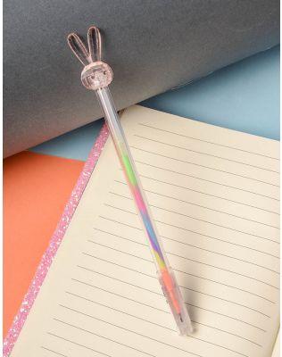 Ручка з кольоровою пастою та зайчиком на кінці   237823-44-XX