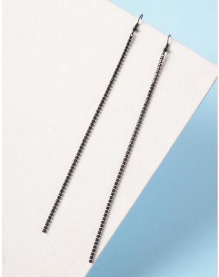 Сережки довгі з камінцями | 235328-02-XX