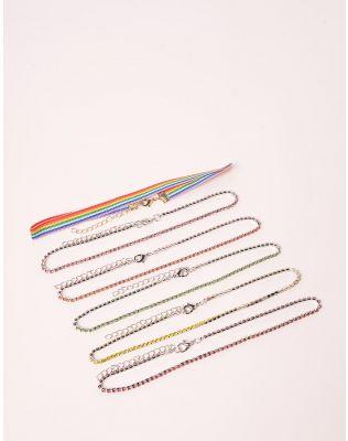 Чокери у наборі з кольоровими стразами | 238729-21-XX