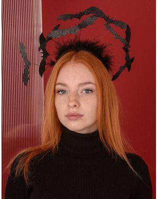 Обідок для волосся на хелоуін з кажанами | 227301-02-XX