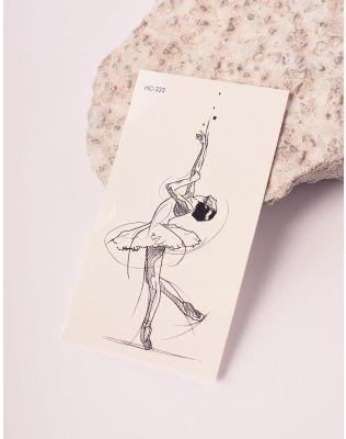 Тату тимчасове з малюнком балерини | 238194-02-XX