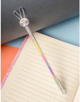 Ручка з кольоровою пастою та зайчиком на кінці   237823-01-XX