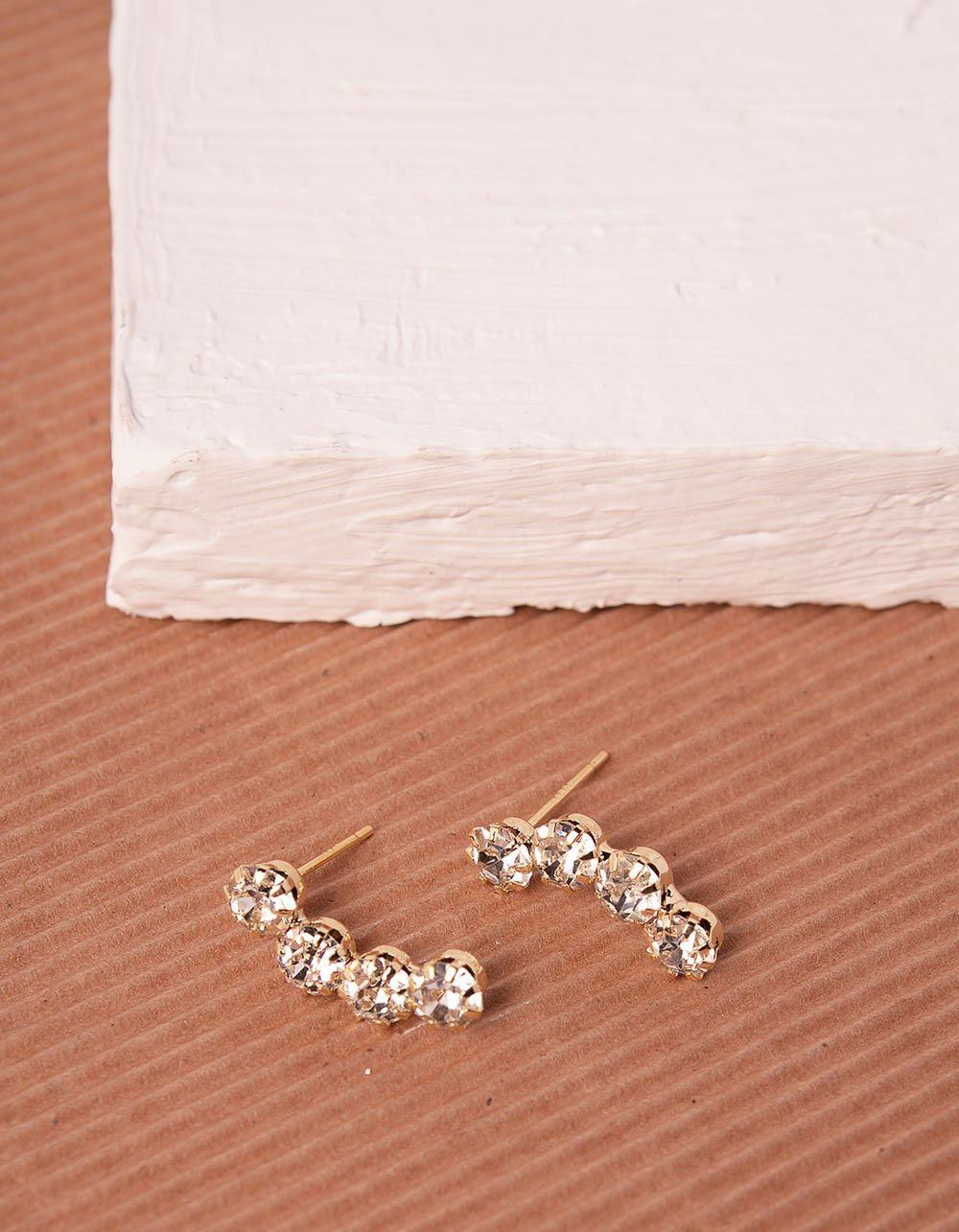 Сережки зі стразами | 240342-08-XX