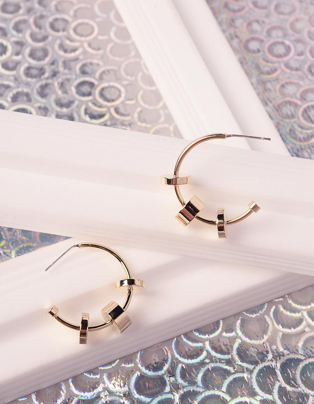 Сережки кільця з фурнітурою   240590-04-XX