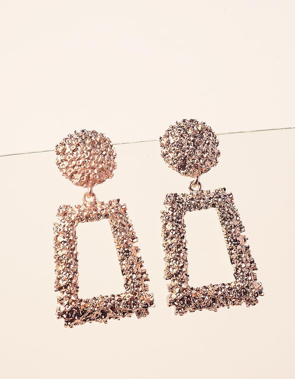 Сережки  фігурні  з рельєфним покриттям | 237400-04-XX