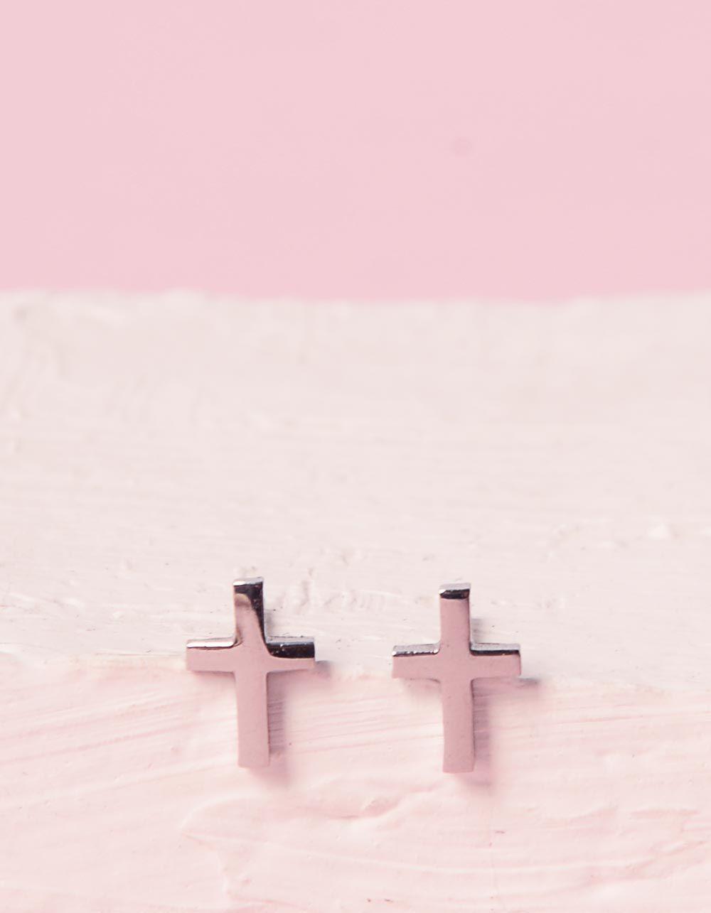 Сережки пусети з хрестами | 240283-05-XX