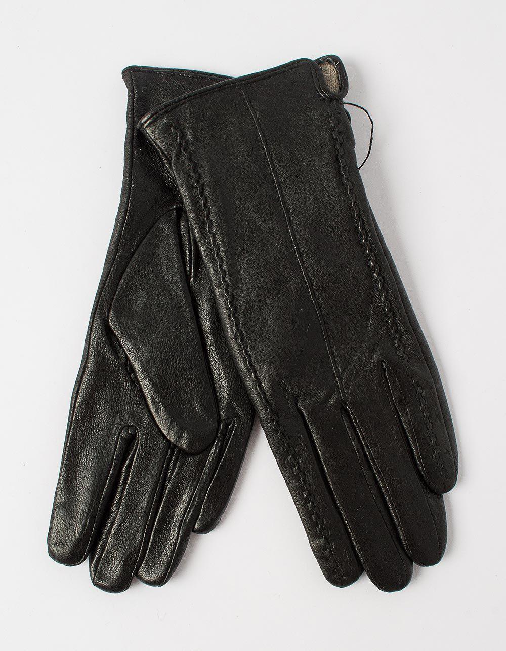 Перчатки из натуральной кожи с плетением | 227822-02-07