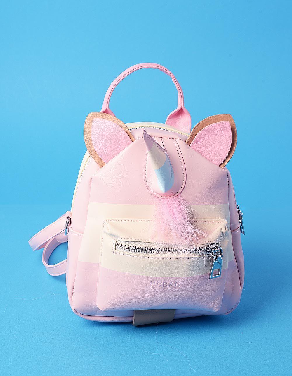 Рюкзак трансформер міні у вигляді єдинорога з вушками   235896-14-XX