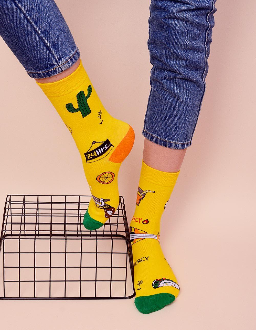 Шкарпетки з молодіжним принтом | 238527-19-XX