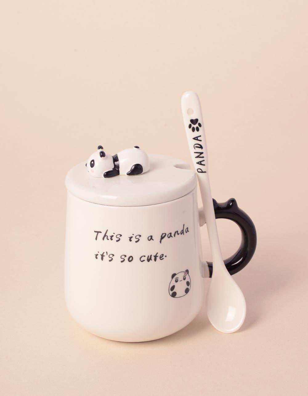 Чашка з ложкою зі звірятком на кришці | 239027-02-XX