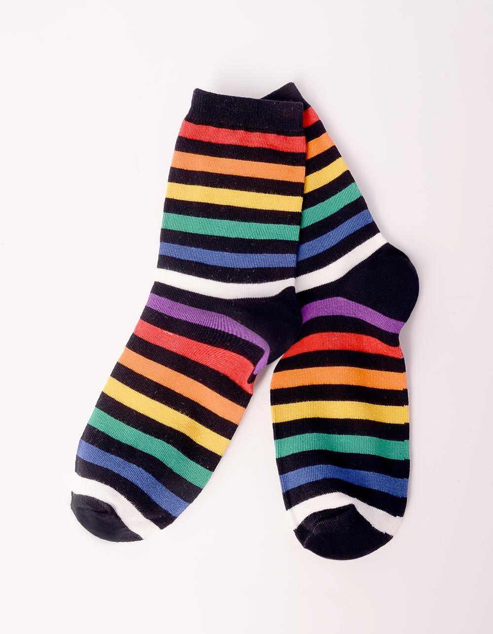 Шкарпетки у кольорову смужку | 238521-02-XX