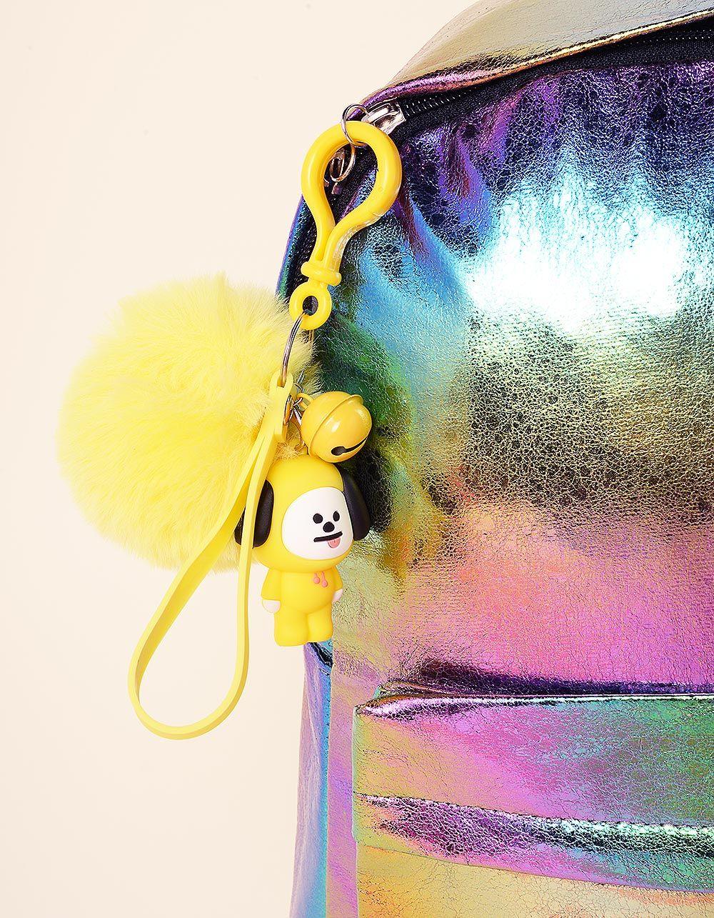 Брелок на сумку BTS з хутряним помпоном | 237368-19-XX