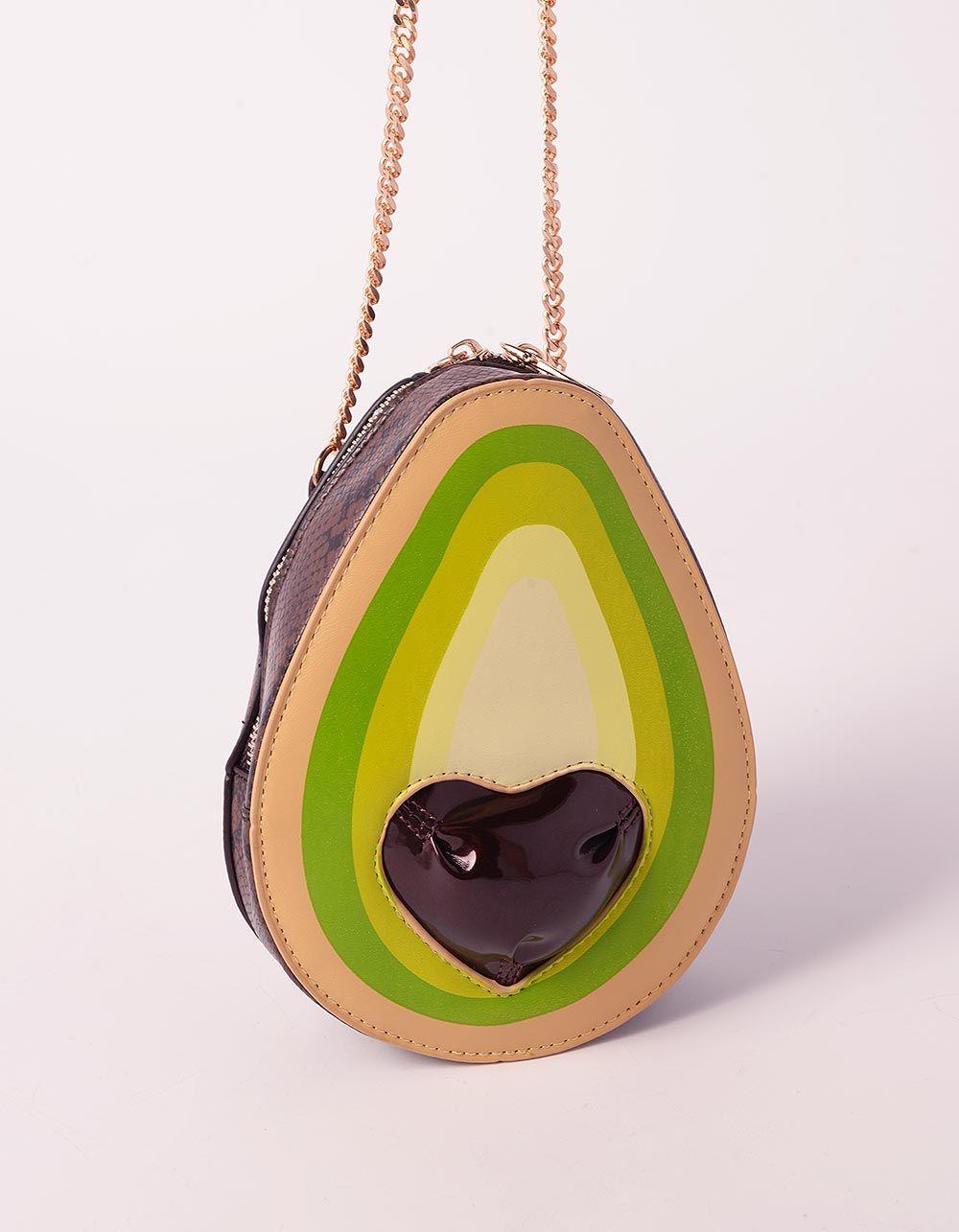 Сумка на ланцюжку у вигляді авокадо з принтом пітона | 239305-20-XX