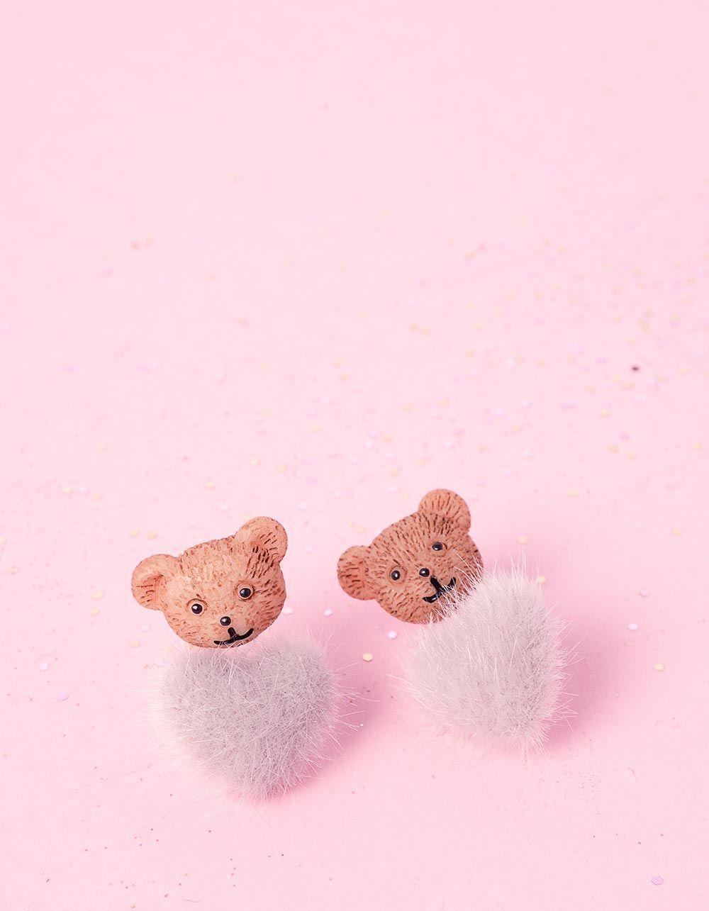 Сережки пусети з ведмедиками | 236610-11-XX