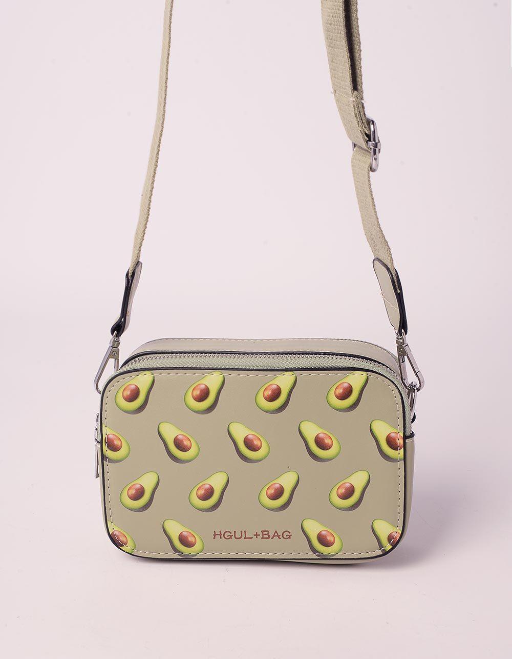 Сумка через плече  з принтом фруктів | 239365-37-XX
