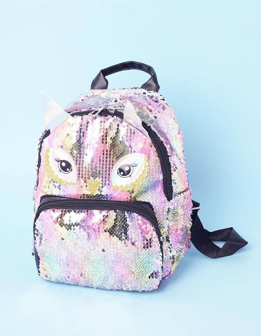 Рюкзак з кольорових паєток у вигляді сови   237321-21-XX