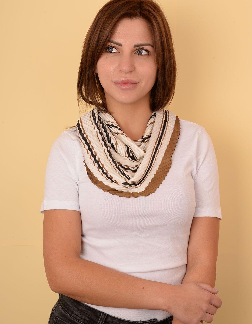 Хустка на шию плісирована з орнаментом | 238621-40-XX