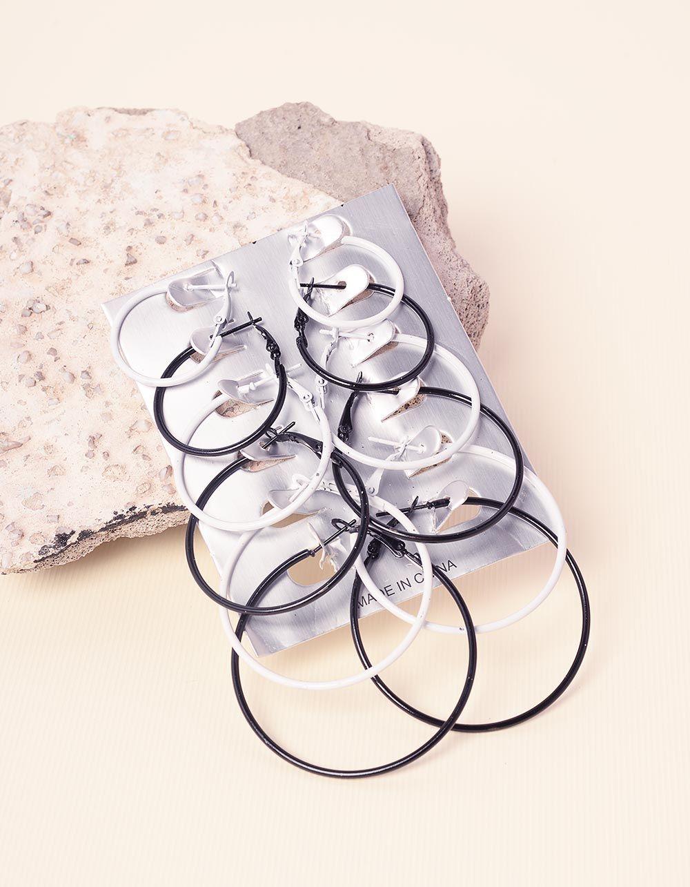 Сережки кільця в наборі | 232646-02-XX