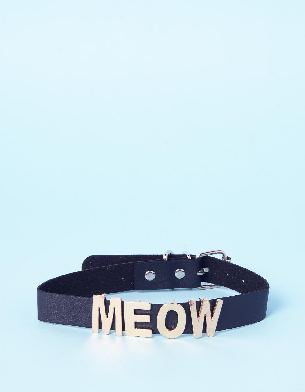 Чокер з написом meow | 236392-02-XX