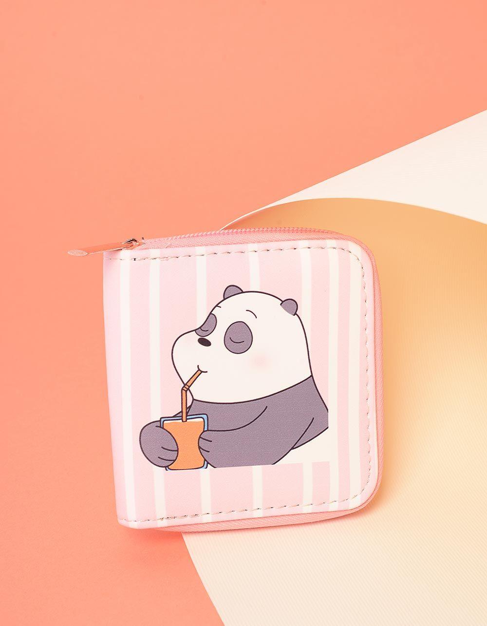 Гаманець на блискавці з малюнком ведмедика | 237735-14-XX